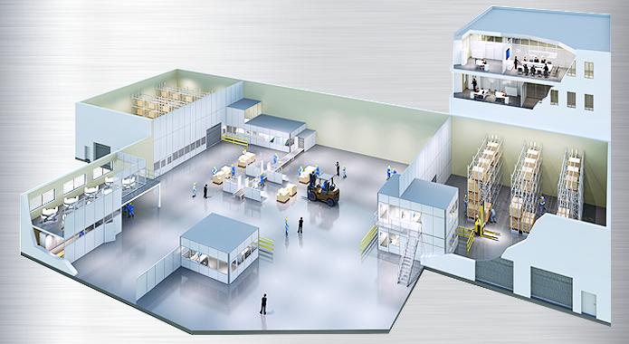 Industrie-Trennwand, Innenausbau   ASI Lagersysteme Stuttgart